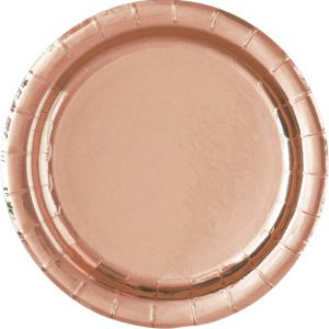 Rose Gold 18cm Round Paper Plates