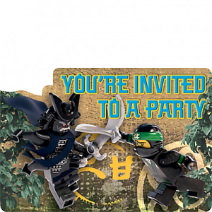 Lego Ninjago Invites