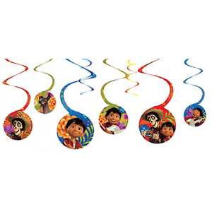 Coco Hanging Swirl Decorations