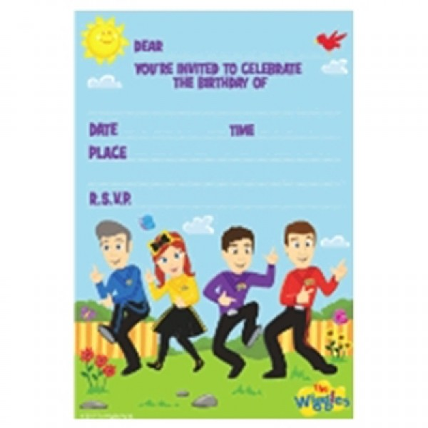 Wiggles Party Invites