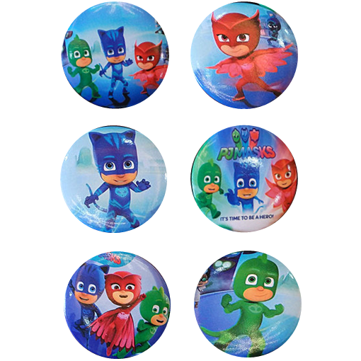 PJ Masks Pin Badges