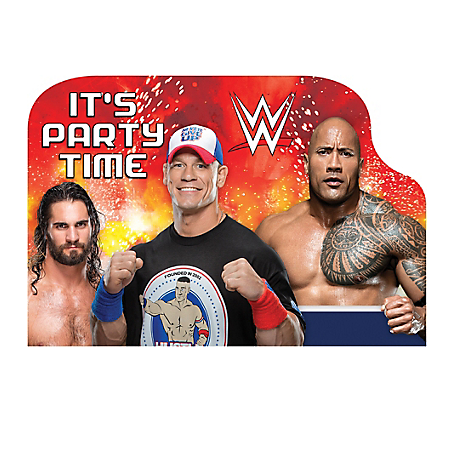 WWE Wrestling Invitations