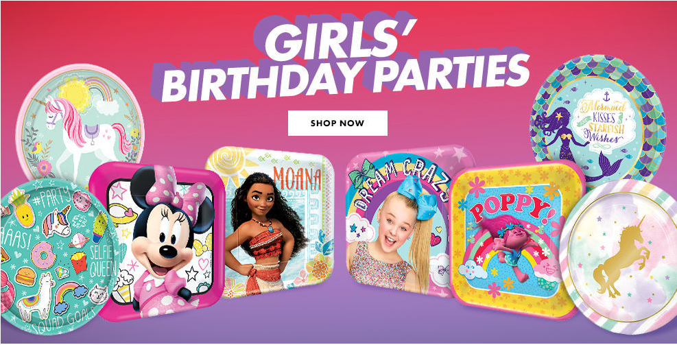 Mermaid Dora Frozen Barbie JoJo Siwa Moana Girls Birthday