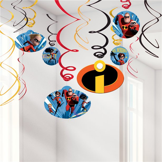 Incredibles 2 Hanging Swirls