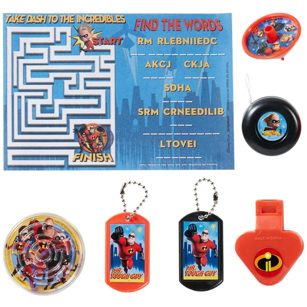 The Incredibles 2 Mega Value Favour Pack