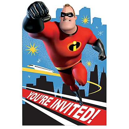 Incredibles 2 Invites
