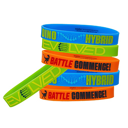Jurassic World Rubber Wristbands