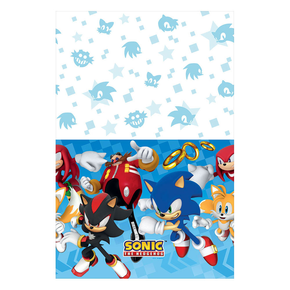 Sonic Hedgehog Plastic Tablecover
