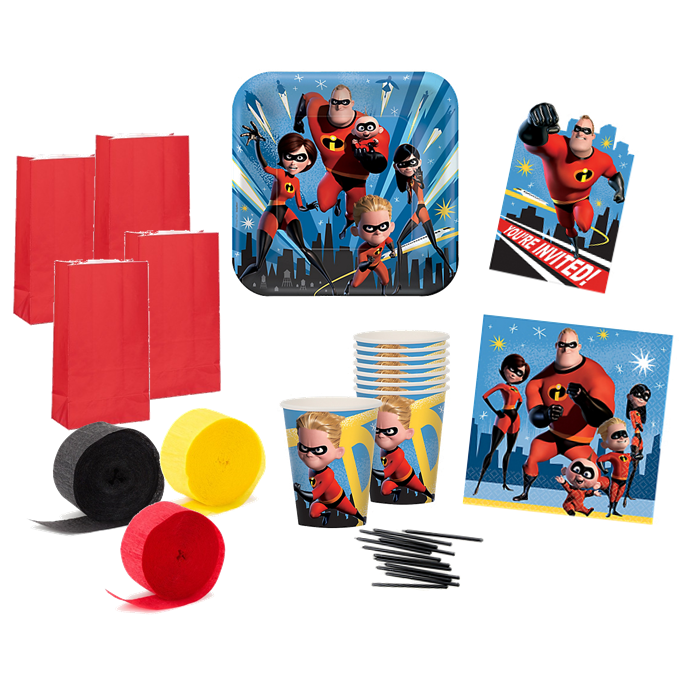 The Incredibles 2 Party Pack