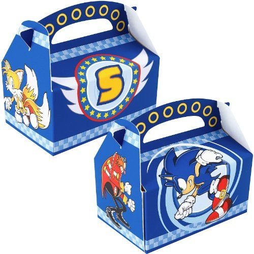 Sonic the Hedgehog Favor Boxes