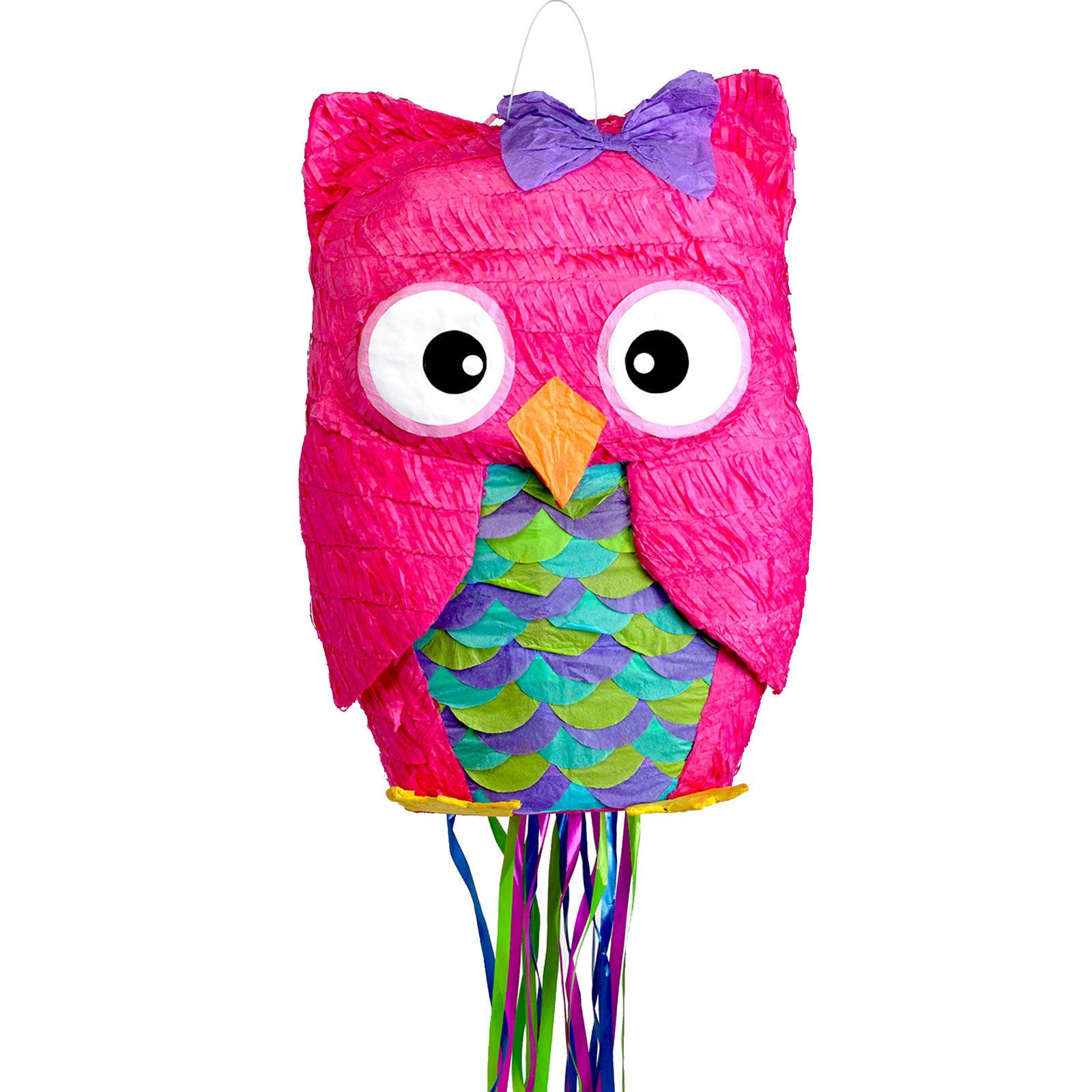 Pink Owl Pull String Pinata