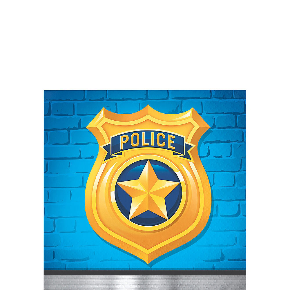 Police Beverage Napkins 16ct