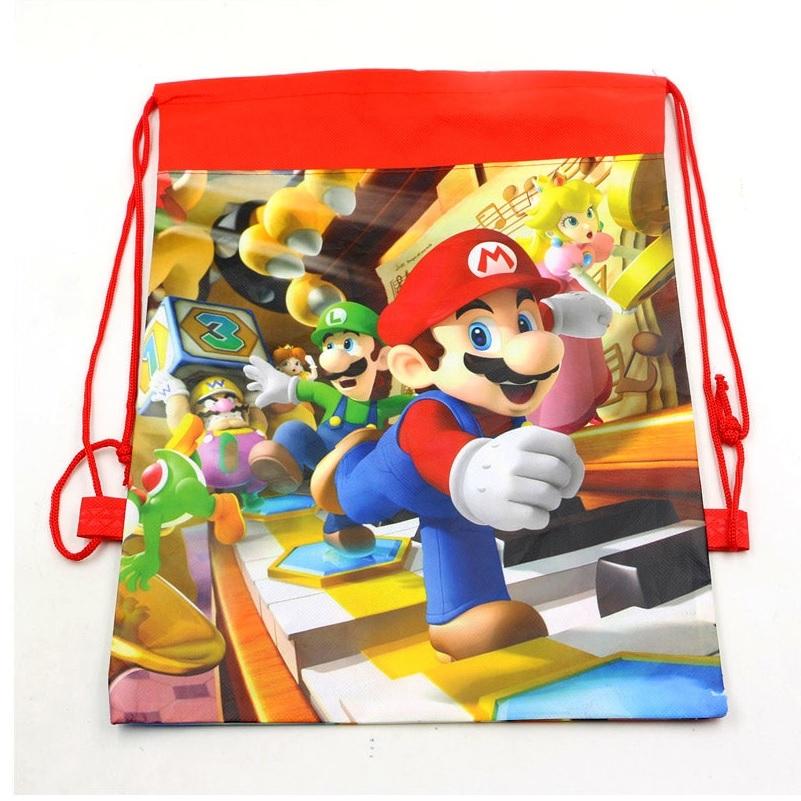 Mario Drawstring Bags
