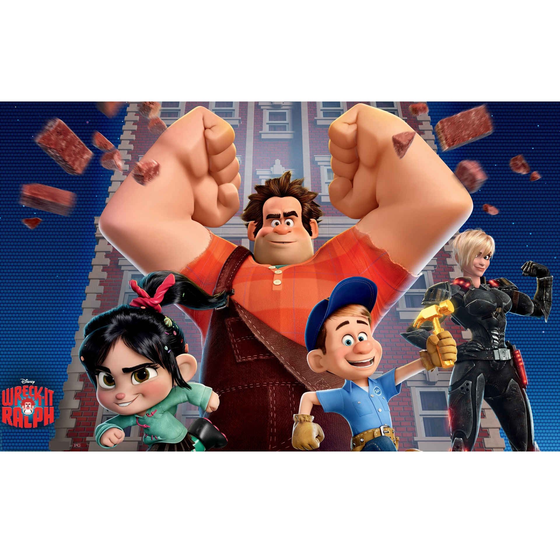 Wreck-It Ralph A4 Cake Icing Image
