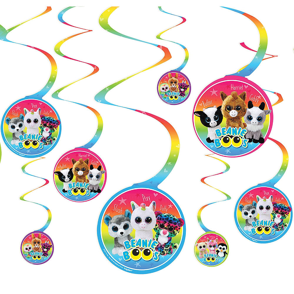 Beanie Boo's Hanging Swirl Decorations