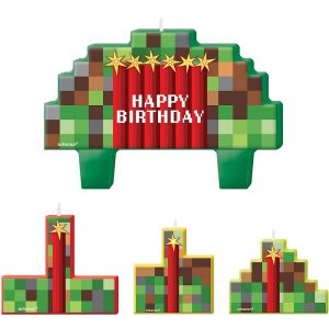 Minecraft Birthday Candle Set