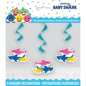 Baby Shark Hanging Swirl Decorations