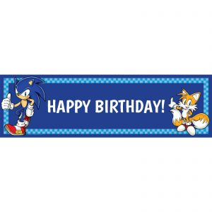 Sonic the Hedgehog Birthday Banner