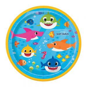 Baby Shark Paper Dessert Plate