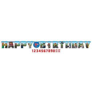 Lego City Jumbo Letter Banner