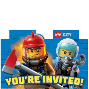 Lego City Invitations