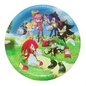 Sonic Cake Plates