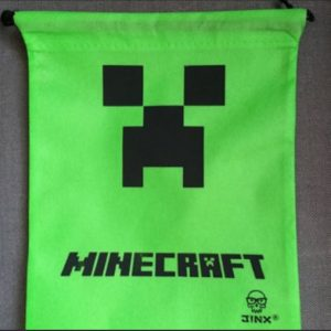 Minecraft Creeper Drawstring Bag