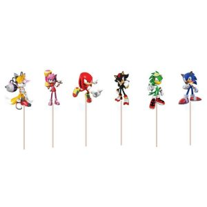 Sonic Cupcake Toppers