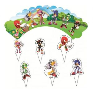 Sonic the Hedgehog Cupcake Wrappers & Toppers