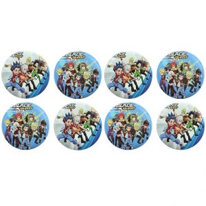 Beyblade Party Badges
