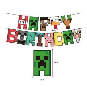 Minecraft Letter Banner